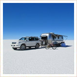 Airstream Camper on the Salar de Uyuni